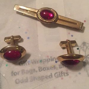 Very old Anson cuff links and tie tac.